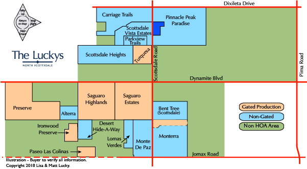 Desert Foothills Area Map